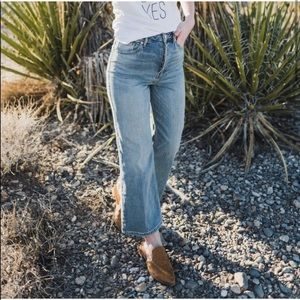 Free People High Rise Wales Wide Leg Cropped Jeans